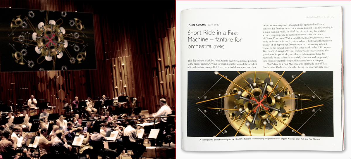 Short Ride in performance and featured in BBC Proms programme